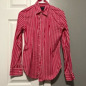 Ralph Lauren pink and white button up
